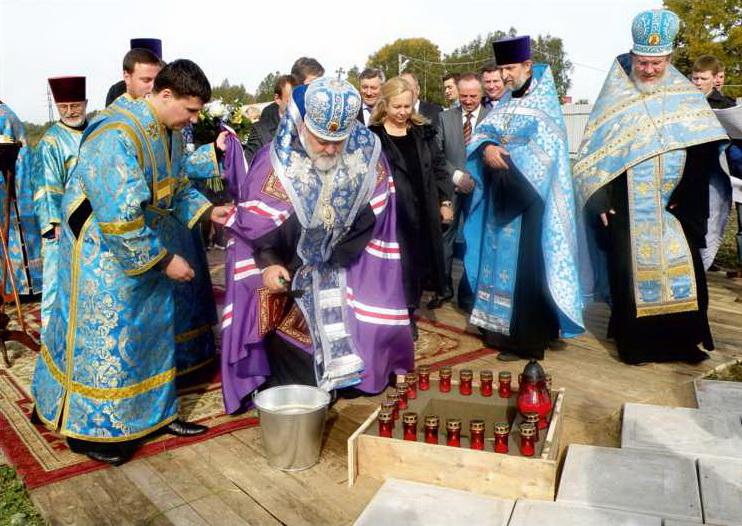 Закладка храма Рождества Пресвятой Богородицы 22 сентября 2012 г.  епископ Выборгский Назарий